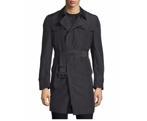 Long-Sleeve Belted Rain Coat by Costume National in Guilt - Season 1 Episode 3