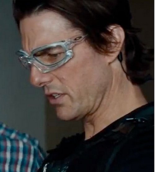 "Custom Clear ""Ducati Wind Jacket"" Goggles by Oakley in Mission: Impossible - Ghost Protocol"