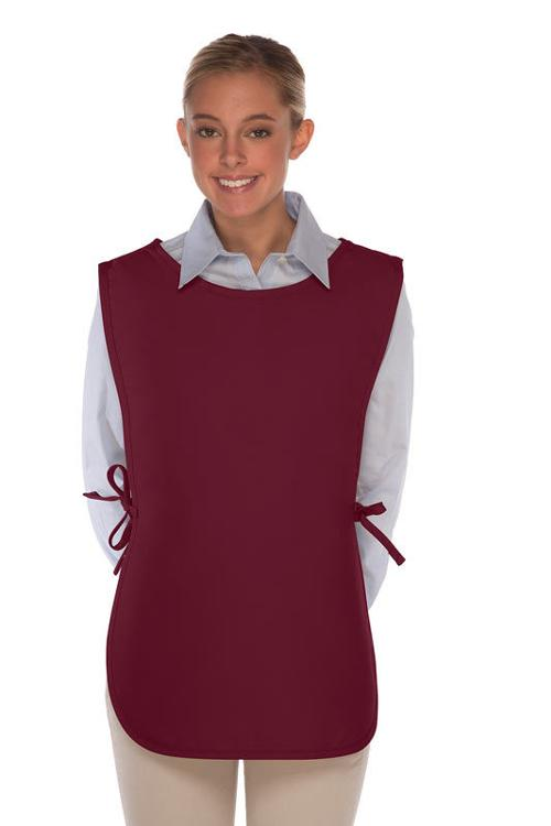 Maroon No Pocket Cobbler Apron by Best Aprons in Ride Along