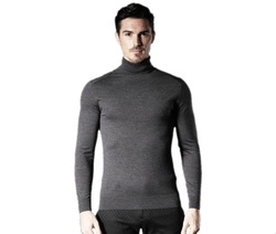 Turtleneck Stretch Wool Sweater by Brloote in Jason Bourne