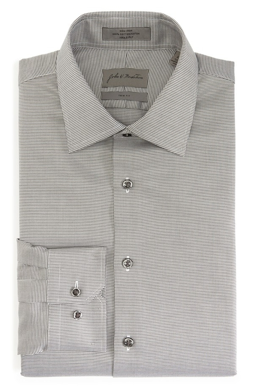 Trim Fit Non-Iron Texture Dress Shirt by John W. Nordstrom in Our Brand Is Crisis