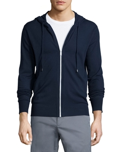 Airtex Full-Zip Perforated Hoodie by Michael Kors in Suits
