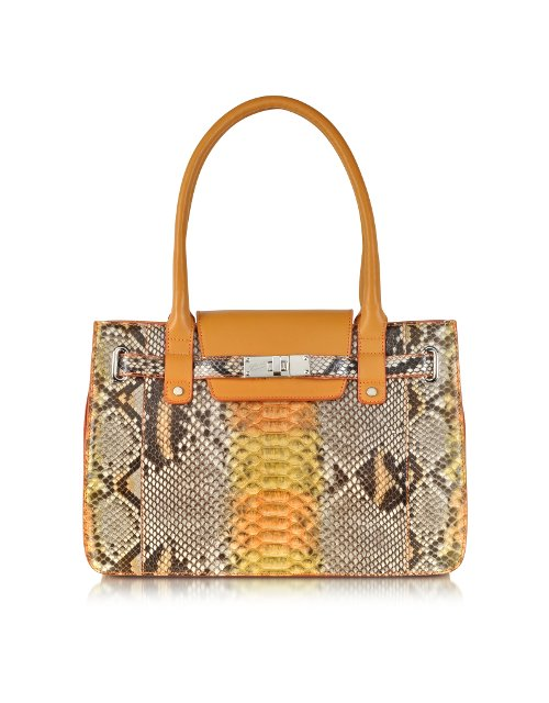 Python and Leather Satchel Bag by Ghibli in Entourage