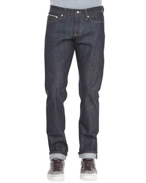 WeirdGuy Left Hand Indigo Selvage Jeans by Naked and Famous Denim	 in The Gunman