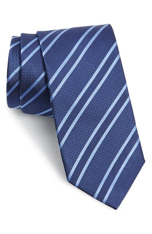 Stripe Silk Tie by David Donahue in Elementary