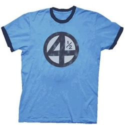 4.5 4 1/2 Scott Pilgrim Distressed Carolina T-Shirt by Fantastic Four in Scott Pilgrim Vs. The World