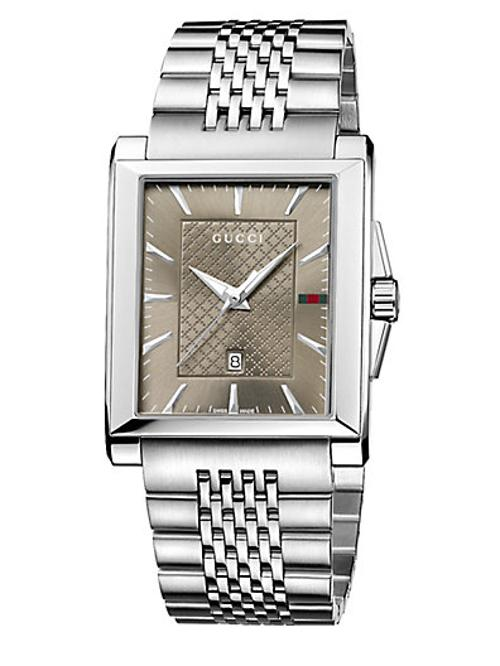 Timeless Collection Stainless Steel Rectangle Watch by Gucci in Hot Tub Time Machine 2