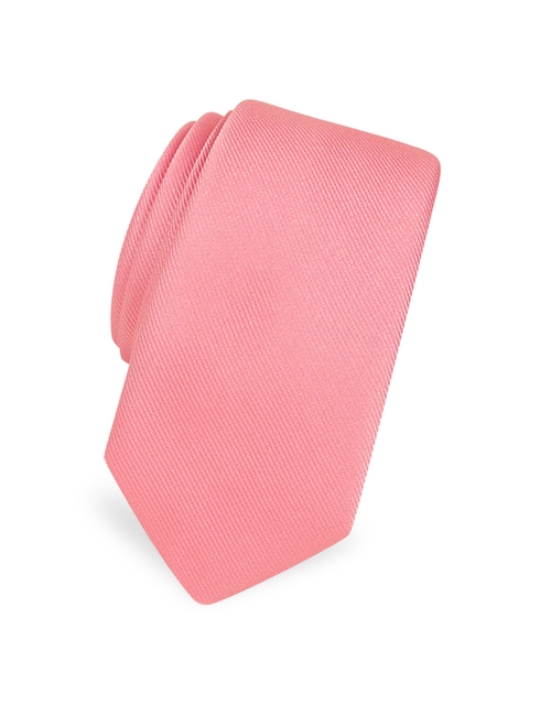 Solid Twill Silk Narrow Tie by Forzieri in Scream Queens - Season 1 Episode 7