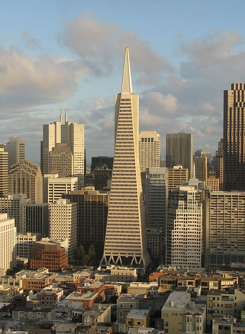 Transamerica Pyramid San Francisco, California in Terminator: Genisys