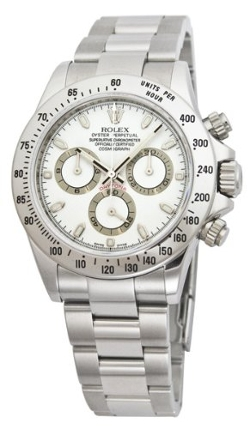 Daytona White Index Dial Oyster Bracelet Mens Watch by Rolex in Safe House