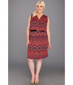 Ikat Print V-Neck Dress by Anne Klein in Top Five