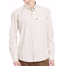 Charles Checkered Long Sleeve Shirt by Barbour in Going In Style