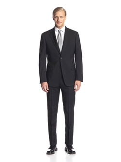 Two Button Notch Lapel Suit by Armani Collezioni in Elementary