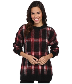 Plaid Long Sleeve Crew Neck Sweater by Michael Michael Kors in Pretty Little Liars