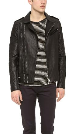 Evan Perfecto Leather Jacket by IRO in A Walk Among The Tombstones