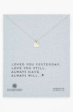 Love Sparkle Heart Boxed Pendant Necklace by Dogeared in The Best of Me