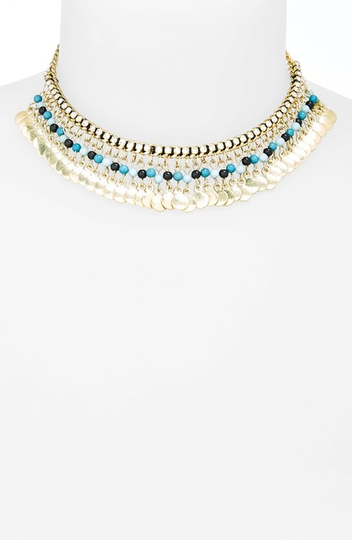 Rhinestone & Coin Choker by Topshop in Scream Queens