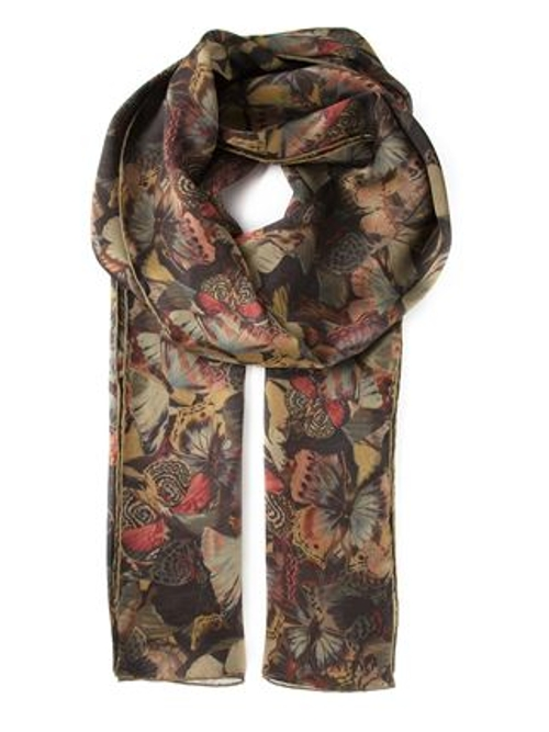 Butterfly Print Scarf by Valentino Garavani in The Second Best Exotic Marigold Hotel