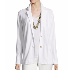 Two-Button Pique Blazer by Joan Vass in Grace and Frankie