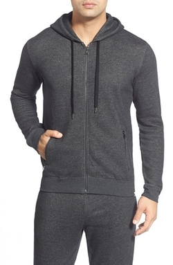 Cotton Zip Hoodie by Derek Rose in The Night Manager