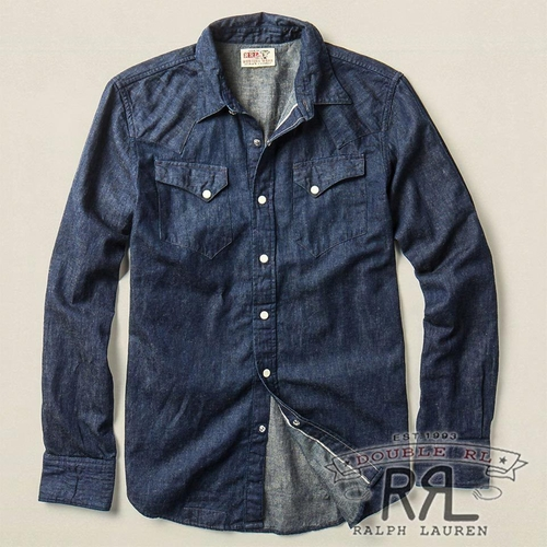 Indigo Denim Western Shirt by Ralph Lauren in Pretty Little Liars - Season 6 Episode 9