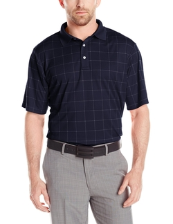 Men's Golf Performance Escena Plaid Short Sleeve Polo Shirt by Jack Nicklaus in The Blacklist