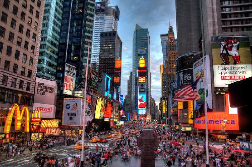 Time Square New York City, New York in The Great Gatsby
