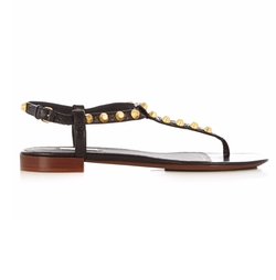 Giant Studded T-Bar Leather Sandals by Balenciaga in Keeping Up With The Kardashians