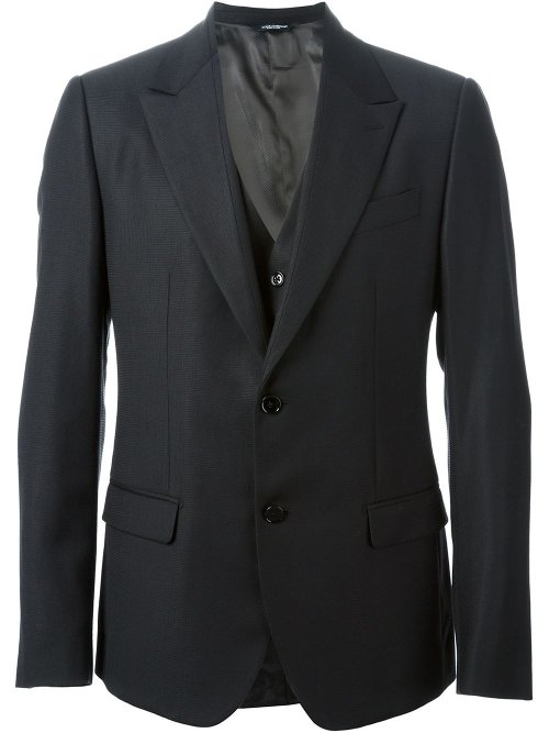 Classic Three-Piece Suit by Dolce & Gabbana in Focus