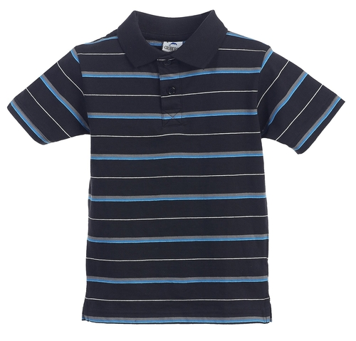 Solid Stripe Design Jersey Polo Shirt by Gioberti in Boyhood