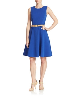 Belted Fit-and-Flare Dress by Eliza J in Jessica Jones