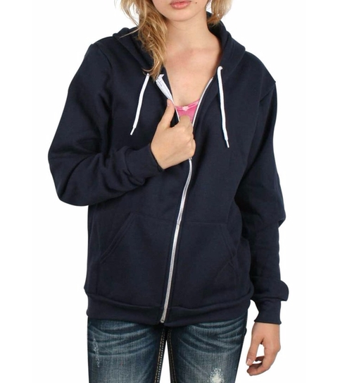 Flex Fleece Zip Hoodie by American Apparel in Love, Rosie