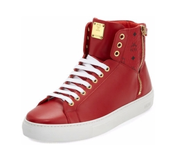 Collection Leather High-Top Sneakers by MCM in Unbreakable Kimmy Schmidt