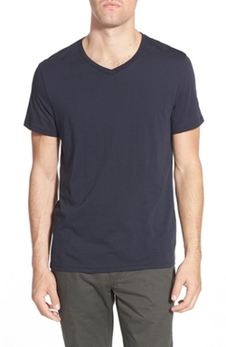 'Bruce' V-Neck T-Shirt by Slate & Stone in New Girl