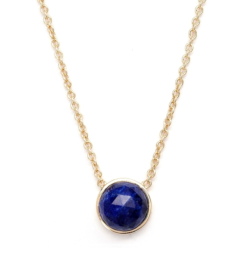 Round Lapis Necklace   by Rachael Ryen  in Pretty Little Liars