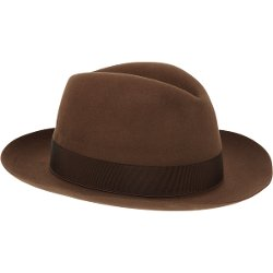 Beaver Fur Felt Fedora Hat by Borsalino in Begin Again