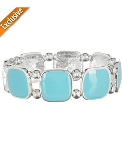 Curacao Blue Square Stretch Bracelet by Izaro in Pitch Perfect 2