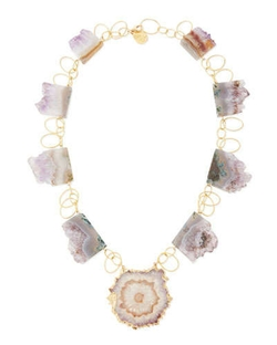Amethyst Stalactite Vermeil Necklace by Devon Leigh	 in The Devil Wears Prada