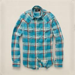 Slim Linen Buffalo Shirt by Ralph Lauren in A Walk in the Woods