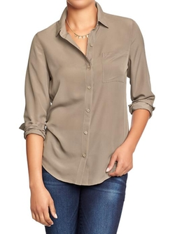 Women's Crepe-Chiffon Blouses by Old Navy in Neighbors