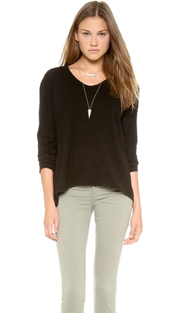 Long Sleeve Slouchy BF T-Shirt by Wilt in Gone Girl