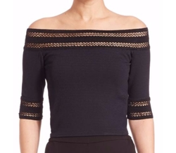 Off-The-Shoulder Textured Crepe Top by Jonathan Simkhai in Keeping Up With The Kardashians