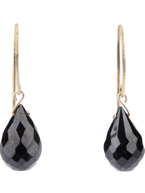 Black Spinel Drop Earrings by Tier Motis in Crimson Peak