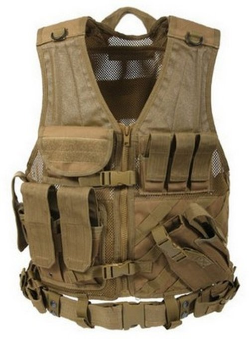 Tactical Cross Draw Vest by Army Navy Shop in The Gunman