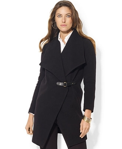 Drape-Front Belted Coat by Lauren Ralph Lauren in A Walk in the Woods