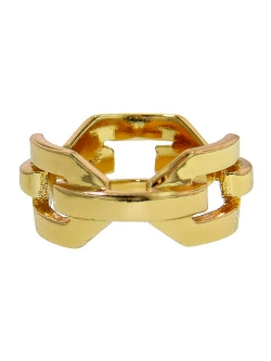Flat Chain Link Ring by Jennifer Fisher in Dope