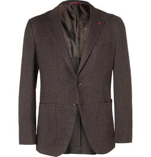 Slim-Fit Wool Jacket by Isaia in Spy