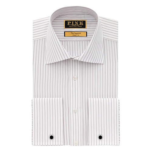 Freud Stripe Classic Fit Double Cuff Shirt by Thomas Pink in The Martian