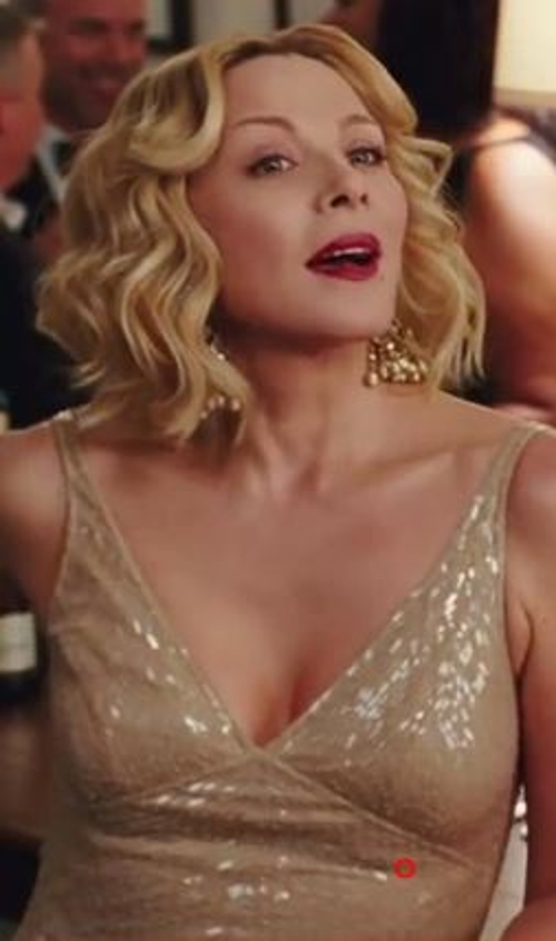 Gold V-Neck Dress by Naeem Khan in Sex and the City 2