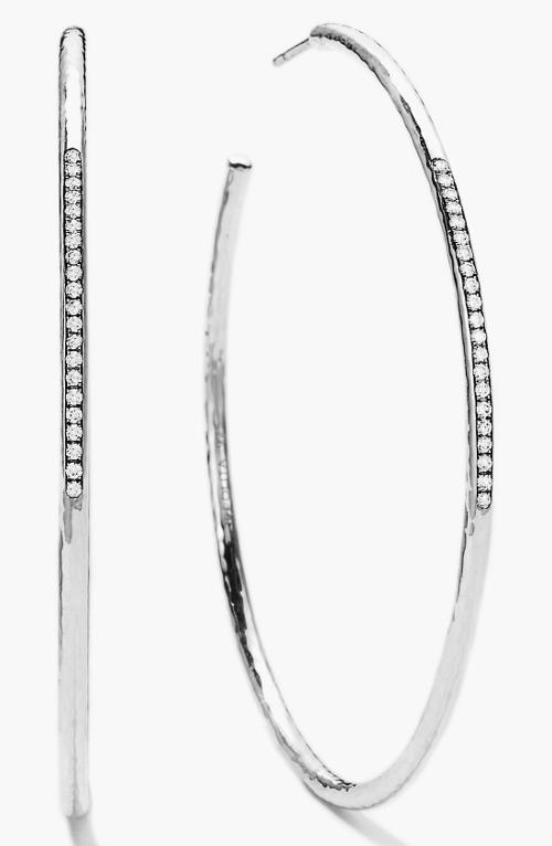Stella Diamond Large Hoop Earrings by Ippolita in Beyond the Lights
